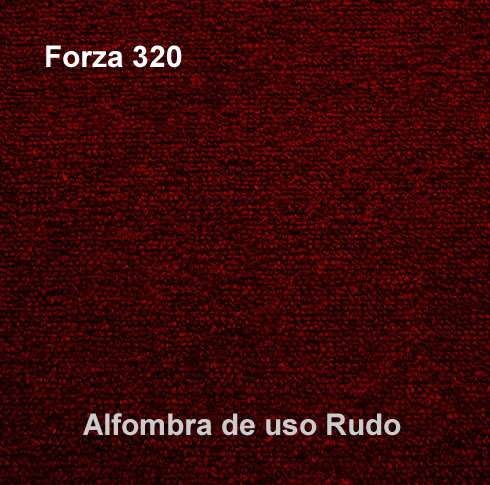 Alfombra de Uso Rudo marca nuvó linea forza 320, color guinda
