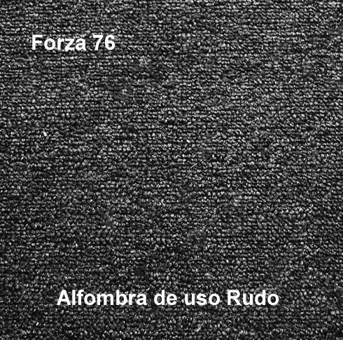 Alfombra de Uso Rudo marca nuvó linea forza 76, color gris oscuro