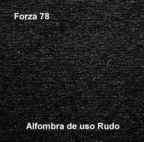 Alfombra de Uso Rudo marca nuvó linea forza 78, color negro