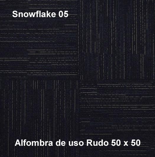 Alfombra Modular Snowflake de uso rudo,marca nuvó, medidas 50x50, color gris oscuro