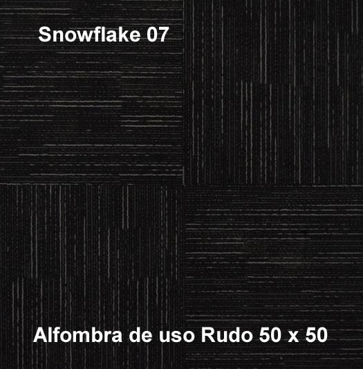 Alfombra Modular Snowflake de uso rudo,marca nuvó, medidas 50x50, color negro