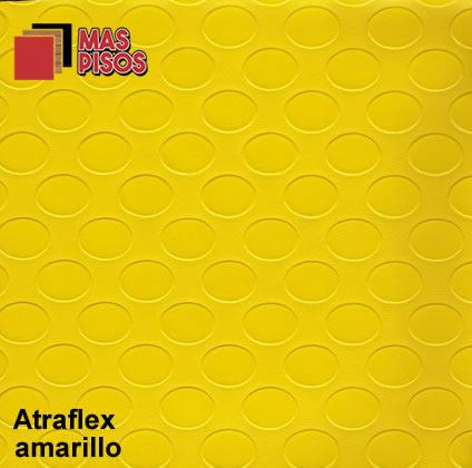 Piso Vinílico en Rollo Linóleo Antiderrapante atraflex amarillo