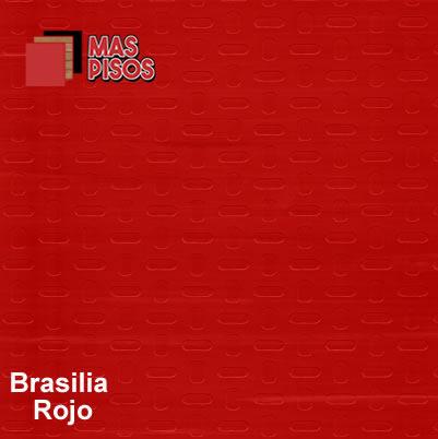 piso vinilico en rollo antiderrapante brasilia rojo