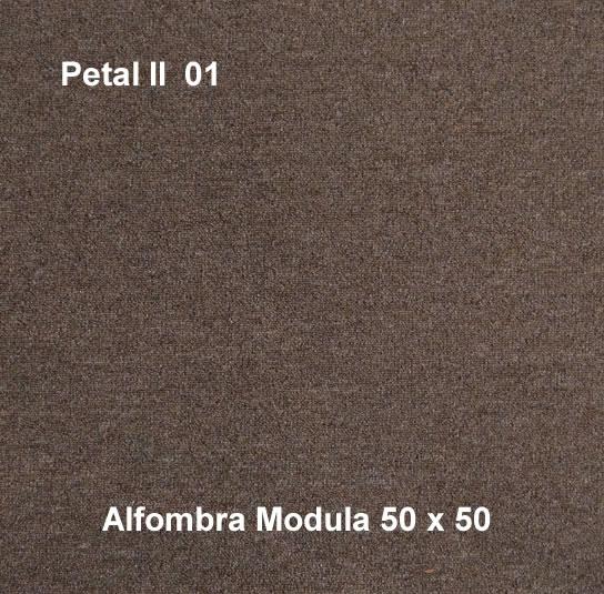 Alfombra modular petal II 01, alfombra de uso rudo, medidas 50x50, color lila
