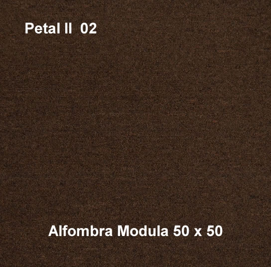Alfombra modular petal II 02, alfombra de uso rudo, medidas 50x50, color café