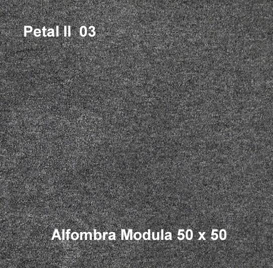 Alfombra modular petal II 03, alfombra de uso rudo, medidas 50x50, color gris