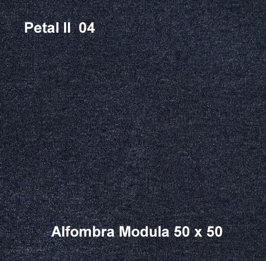Alfombra modular petal II 04, alfombra de uso rudo, medidas 50x50, color azul
