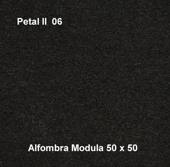 Alfombra modular petal II 06, alfombra de uso rudo, medidas 50x50, color negro