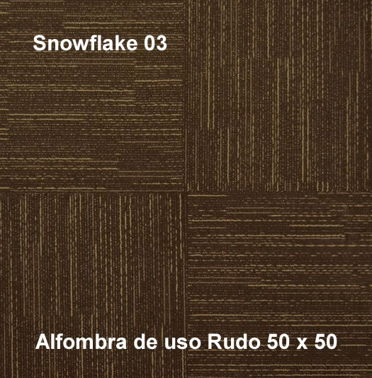 Alfombra Modular Snowflake de uso rudo,marca nuvó, medidas 50x50,color café
