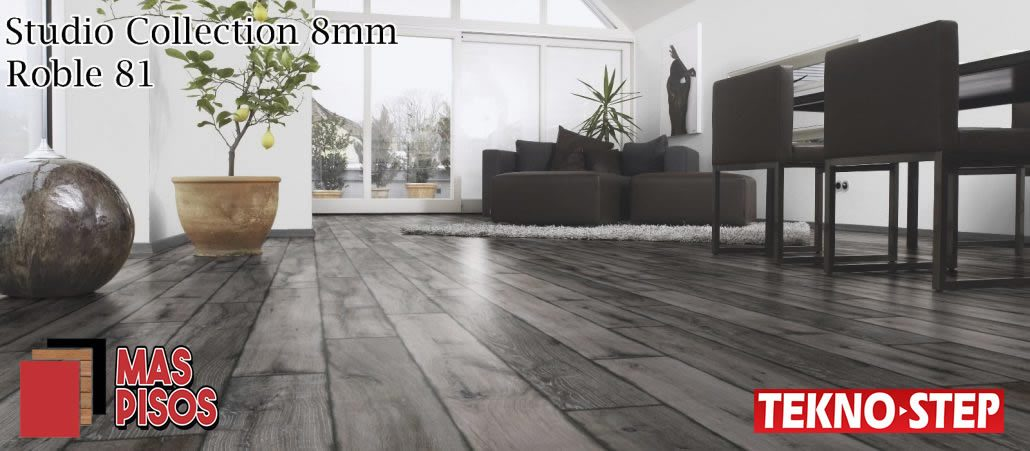 Piso Laminado Tekno-step STUDIO 8MM, Duela laminada, piso de madera