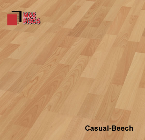 Piso laminado 7mm marca terza , duela laminada 7mm, color casual beech