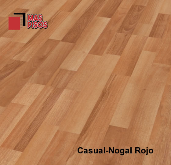 Piso laminado 7mm marca terza , duela laminada 7mm, color casual nogal rojo