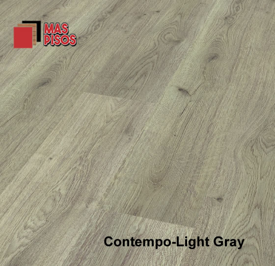 Piso laminado de 7mm marca terza, linea contempo color light gray