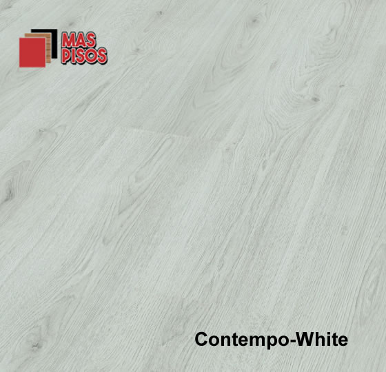 Piso laminado de 7mm marca terza, linea contempo color white