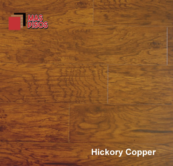 piso laminado 8mm marca terza, estilo hickory, color copper