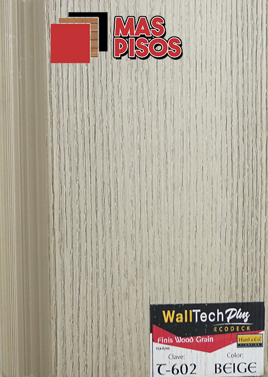 Deck-Pvc linea tech EcoDeck, para muros-paredes
