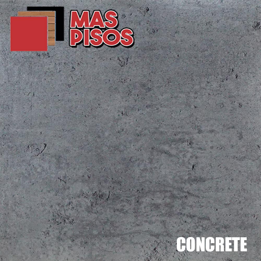 Piso linóleo en rollo color concreto